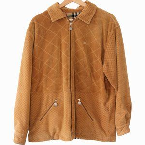 M295 Vintage Burberry's Velour Quilted Fleece Full